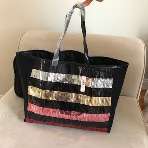 Brand New Victoria Secret Bling Sequin Tote Bag